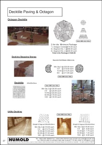 Numold - Moulds for Concrete Products - ABS Price List Page 27 - Decking