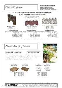 Numold - Moulds for Concrete Products - ABS Price List Page 33 - Classic Accessories