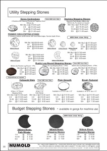 Numold - Moulds for Concrete Products - ABS Price List Page 35 - Utility Stepping Stones