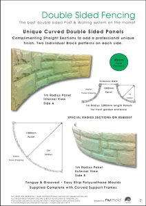 Numold - Moulds for Concrete Products - PU Price List Page 2 - Double sided fencing
