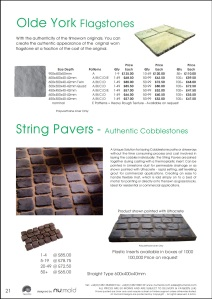 Numold - Moulds for Concrete Products - PU Price List Page 21 - Olde York Worn Flagstones & String Pavers