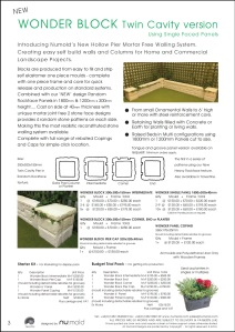 Numold - Moulds for Concrete Products - PU Price List Page 3 - Wonder Block
