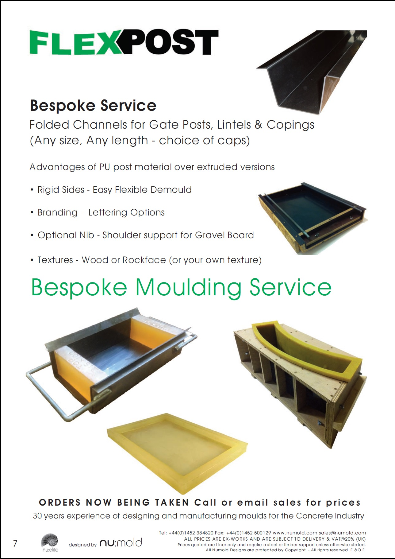 Posts for march page 7 -  Post Moulds Numold Moulds For Concrete Products Pu Price List Page 7 Flexpost Moulding Service
