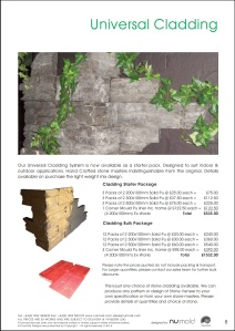 Numold - Moulds for Concrete Products - PU Price List Page 8 - Universal Cladding